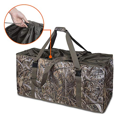 mydays 12 Slot Duck Decoy Bag, Slotted Decoy Bags, Hunting Gear, Duck Hunting Bag with Waterfowl Hunting Blind Camouflage Printing (Camo1, L)