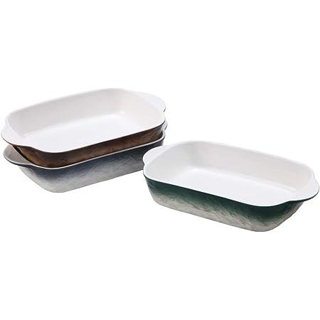 "EAMATE 9"" Ceramic Baking Dish, Small Porcelain Casserole Dish, Lasagna Baking Pan for Individual, Assorted Colors, Set of 3"