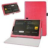 Bige for Lenovo Yoga Smart Tab YT-X705F Case,PU Leather Folio 2-Folding Stand Cover for 10.1' Lenovo Yoga Smart Tab YT-X705F Tablet(2019),Red