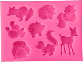 Vicanba Silicone Form - 1pc Squirre Hedgehog Deer Silicone Mold Cake Decorating Animal Pastry Baking Chocolate Soap M - Silicone Cake Instant Bake Decorating Candy Tools Resin Form Concrete Forms