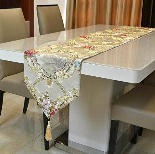 BiuTeFang Tafelloper Mode, Europese stijl, brons, spiegel bloem, tafelvlag