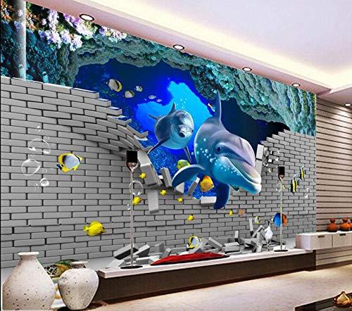 RTYUIHN Wallpaper 3D Tile Underwater World Home Decoration Painting Modern Wall Art Decoration