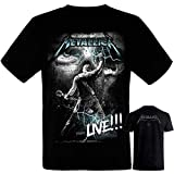 Metallica-James Hetfield - Camiseta Negra Hombre Manga Corta - Metallica Tshirt (XL)