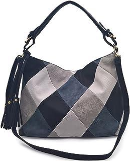 YIZICHOO Damen Umhängetaschen Frau Handtaschen Lack PU-Leder Elegant Tote Schultertaschen YIDE87068