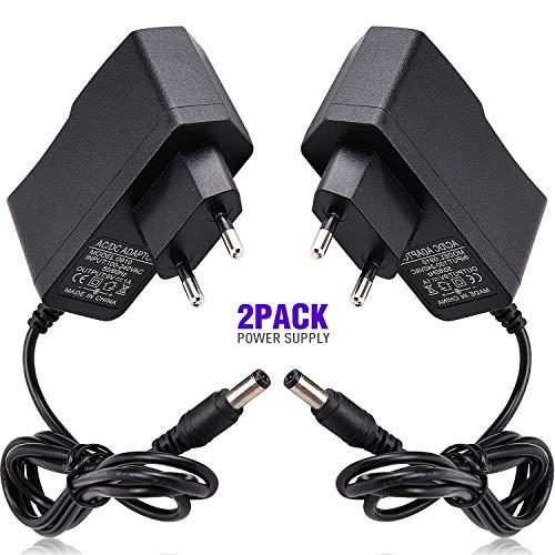 2 pcs Universal 9V 1A AC DC Netzteil Stromadapter Adapter für Arduino R3 Platine Oszilloskop Router ADSL-Modem