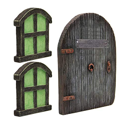 WDFVGEE - Gnomo de hadas en miniatura para puerta de casa, para árbol de patio, decoración de jardín, figura en miniatura, decoración de mesa