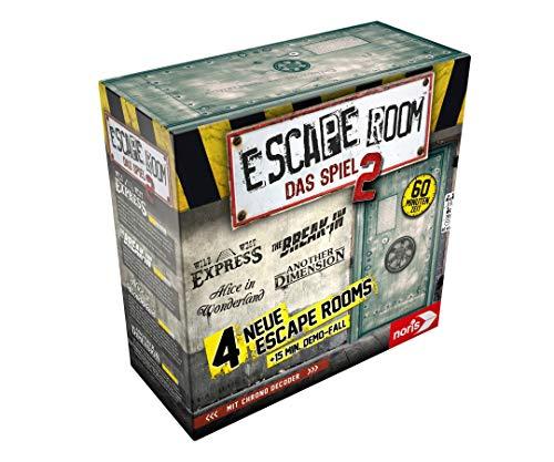 noris 606101891 Escape Room 2 (Gründspiel) Familien und Gesellschaftsspiel für Erwachsene, inkl. 4 Fällen und Chrono Decoder, ab 16 Jahren