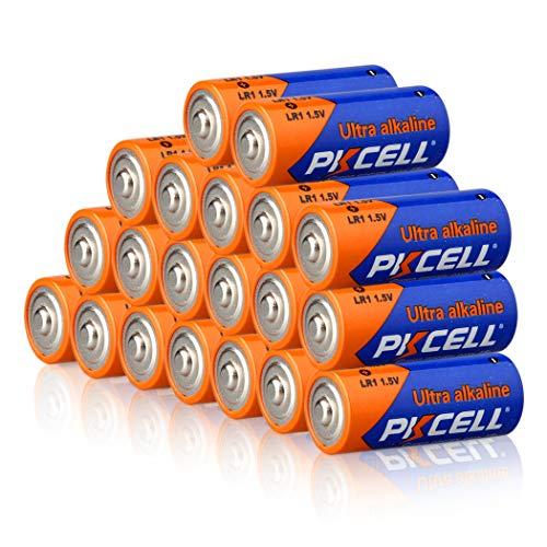 20 Count Alkaline Battery 1.5V LR1 N E90, Long Lasting, All-Purpose N Battery for Household and Business
