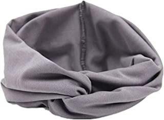 Yvelands Damen Stirnband Turban Kopftuch Wrap Kopfbedeckung Cross Sport Yoga Tuch