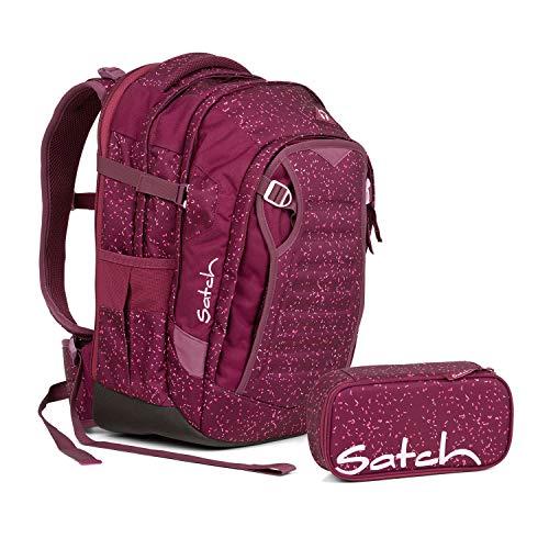 Satch Schulrucksack 2tlg. Set (mit SchlamperBox) (Match Berry Bash)