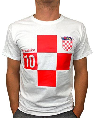 Artdiktat   Kroatien Hrvatska Trikot 2018 Wm Weltmeisterschaft   Wunschname und Wunschnummer am Rücken   Für Herren Damen Kinder Baby   Fan Russland Russia 18 L, D117