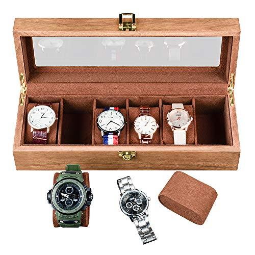 Ywduoying - Caja de madera para relojes de hombre, caja de almacenamiento de joyas, regalo de negocios, caja de almacenamiento