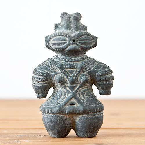 ハニワの土偶 (炭化)(高さ11.7cm)