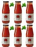Azienda Agricola Prunotto Mariangela n. 6 bottiglie Passata di Pomodoro con Foglia di Basilico da 690 g