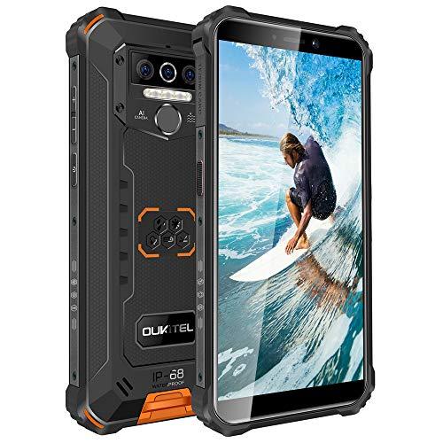 OUKITEL WP5 Unlocked Rugged Smartphones - Android 10 Version,8000mAh,IP68 Waterproof Unlocked Cell Phones 4G LTE Dual SIM, 5.5inches 4GB 32GB Triple Camera Face/Fingerprint Unlock (Orange)