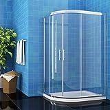 Image of ELEGANT 900 x 760 mm Quadrant Shower Cubicle Enclosure Sliding Door 6mm Easy Clean Glass