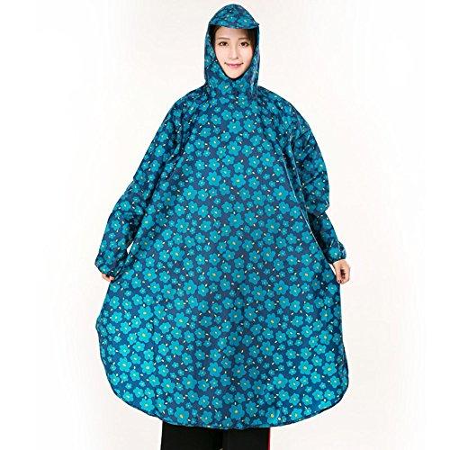 QFFL Imperméable unique sac à dos imperméable veste trekking adulte poncho extérieur fendu imperméable 4 couleurs facultatif taille en option imperméable ( Couleur : C , taille : XL )
