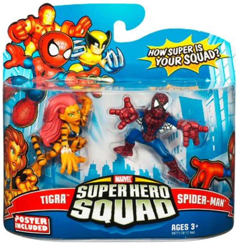 Marvel Superhero Squad Series 13 Tigra & SpiderMan Action Figure 2Pack
