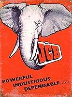 JCBウォールメタルポスターレトロプラーク警告ブリキサインヴィンテージ鉄絵画装飾オフィス寝室リビングルームクラブのための面白いハンギングクラフト