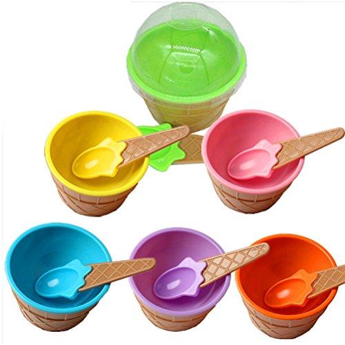 BESTONZON 12 Piezas Copas de Helado Sundae Postre Frozen Yogurt Bowl Mezclas Taza con cucharas