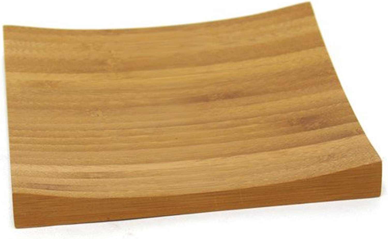 Front of the House DAP049BBB23 Flare Plate, 1  Height, 6.25  Width, 6.25  Length, Bamboo (Pack of 12)