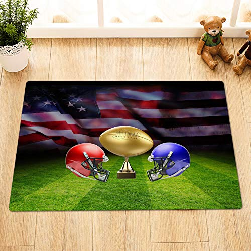 Super Bowl Gold Cup American Football Helmet The front doorofthebathroom matisnon-slipandeasytoclean,40X60cm,a mustforhousehold