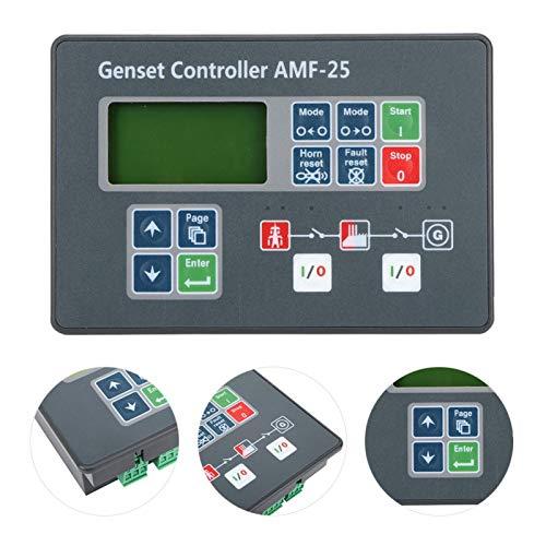 Controller automatico del generatore diesel, controller del generatore modificabile, 8V-35V AMF-25 per controller del gruppo elettrogeno del generatore