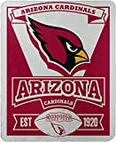Officially Licensed NFL Arizona Cardinals 'Marque' Printed Fleece Throw Blanket, 50' x 60', Multi Color