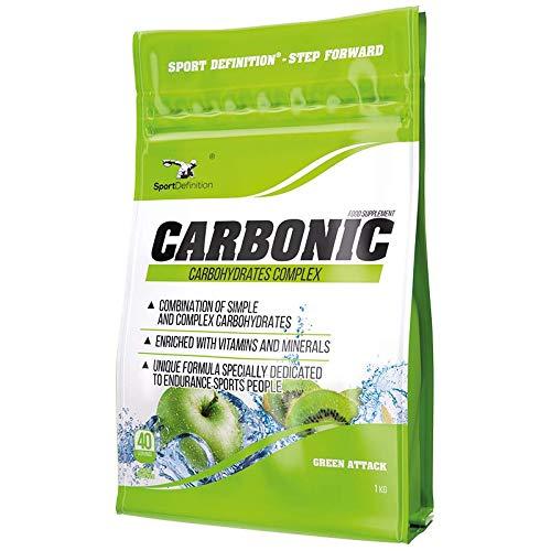 Sport Definition Carbonic Paquete de 1 x 1000g Suplemento de Carbohidratos – Vitaminas y Minerales – Maltodextrina y Glucosa (Lemon Lime)