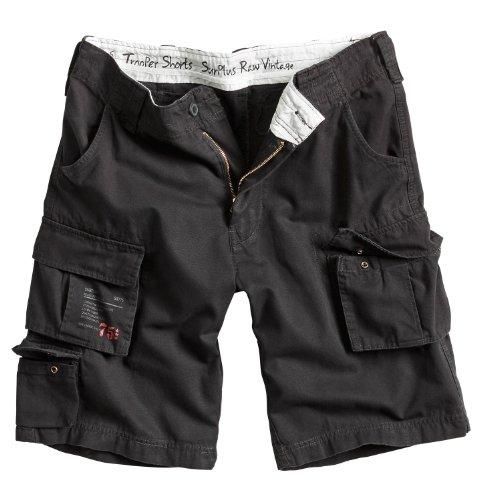 Surplus Raw Vintage Herren Cargo Trooper Shorts, schwarz, XL