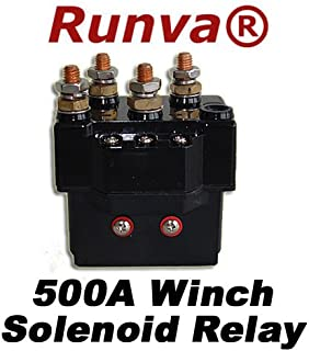 Runva Universal 500A Winch Replacement Solenoid For Recovery Winch (5000lb to 12000lb)
