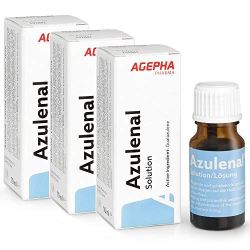 Azulenal lösning för behandling av munsår | magsår, gingivit och magsår | Hjälper mot matsmältningsbesvär och halsinfektioner | Kraftfull antiinflammatorisk verkan med guaiazulene.