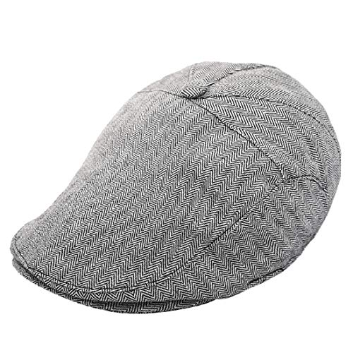 Foruhoo Kinder Schiebermütze für Jungen, Baby Baskenmütze Kapppe Hüte Cap (Schwarz, 51cm / 1-3 Jahre)