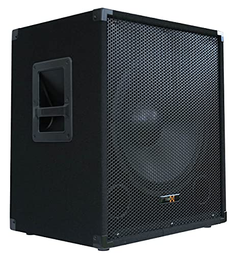 "E-Lektron SUB-Q38A PA-Subwoofer Aktiv 15\""/38cm Bass Lautsprecher Box mit integrierter Endstufe 600W-Peak"