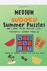 Medium Sudoku Summer Puzzles: 200 Large Print Medium Level Funtastic Sudoku Puzzles Paperback