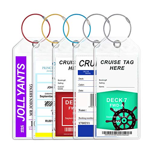 Cruise Luggage Tags Wide Luggage tag Holder Cruise Essentials Zip Seal Reusable