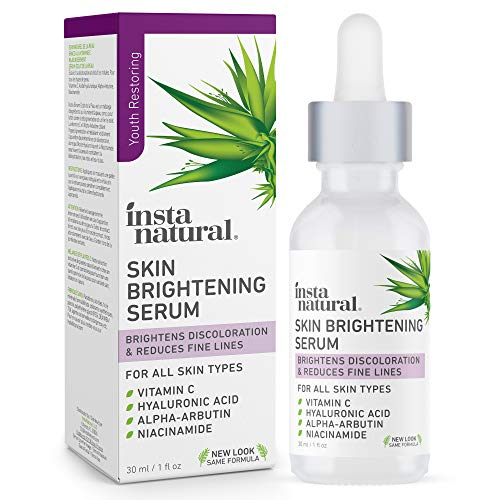 InstaNatural - Skin Brightening Vitamin C Facial Serum - Advanced Antioxidant Face Serum for Firming Wrinkles, Fine Lines - Dark Spots & Hyperpigmentation - With Hyaluronic and Niacinamide - 1oz
