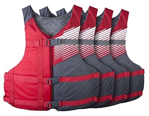 Stohlquist Fit Adult PFD 4 Pack Coast Guard Approved Universal,, Red