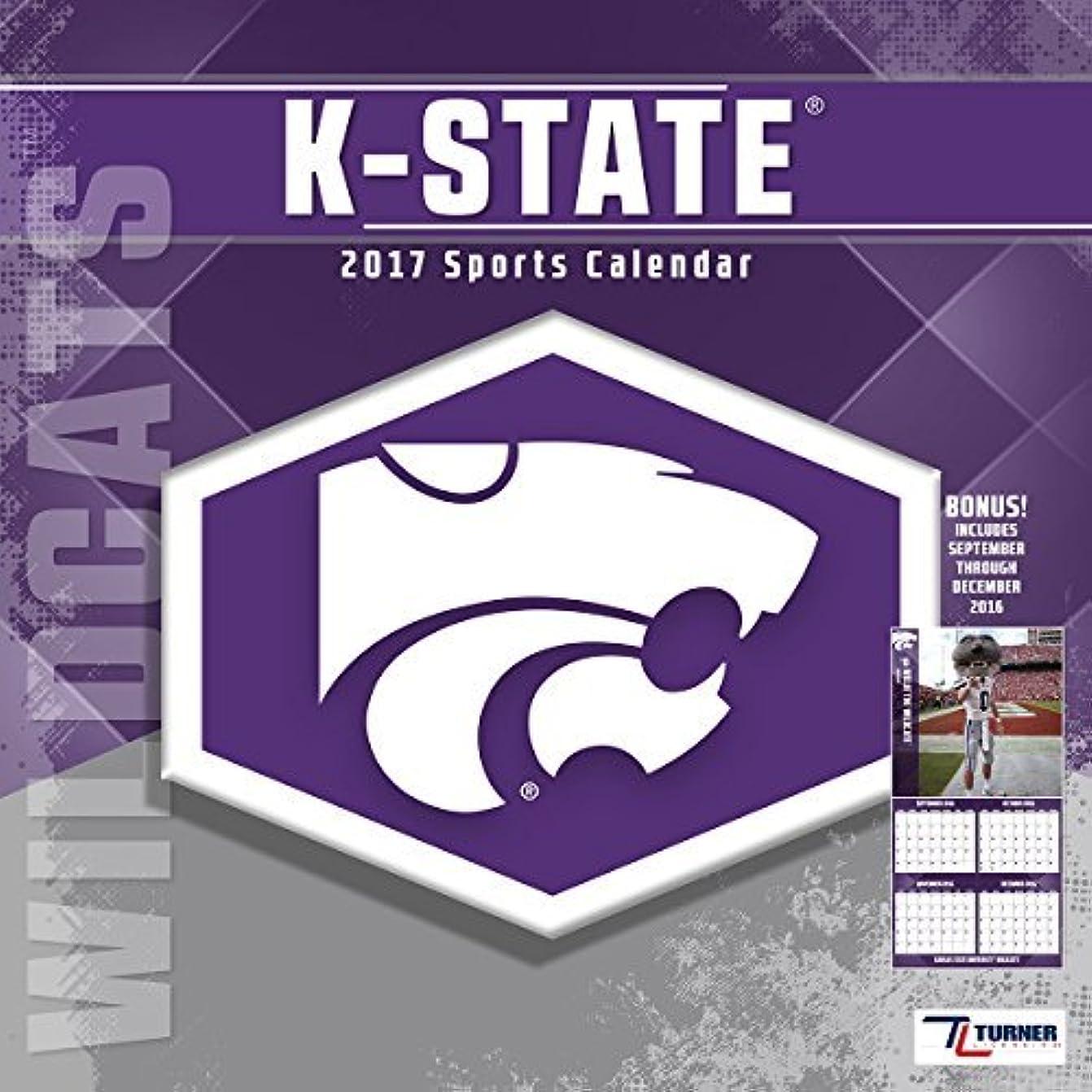 右染色応じるTurner Licensing Sport 2017 Kansas State Wildcats Team Wall Calendar 12X12 (17998011835) [並行輸入品]