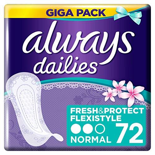 Always Flexistyle Normal Fresh Slipeinlagen, 72 Stück