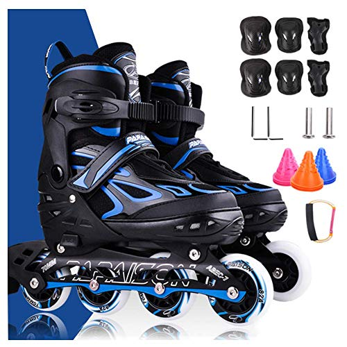Inline Skates Adjustable Size,Roller Skates Lightweight for Teens and Adults,Roller Blades,Fun Illuminating,...