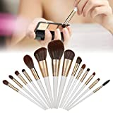 Mango de madera Nailon Hair Face Eye Makeup Brushes Start Makers Pinceles de maquillaje Pr, 14 piezas Juego de pinceles de maquillaje Juegos de pinceles