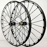 YZU 26 27.5 29 pulgadas ruedas de bicicleta de montaña MTB Llanta de freno de disco ultraligero Q/R 7 8 9 10 11 12 velocidades Cassette volante 24H 1750g, negro, 27.5 pulgadas