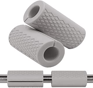 Gym Weight Bar Grips - fit Standard Barbell, Dumbell Handles, Bicep, Pull Up Bar, Rope Grips - Grip Fat Bar Body Arm Forea...