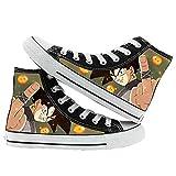 MAZF Dragon Ball High Gang Unisex Zapatos Cordón Diarios de los Zapatos Transpirables Salvajes Zapatos de Lona Animado Impreso-37