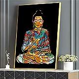 Kingkoil Bunter Drachen Tätowierung Buddha Zazen Religion