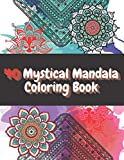 40 Mystical Mandala Coloring Book: Creative Haven Meditation, Lotus Seamless Patterns Black and White + Gift