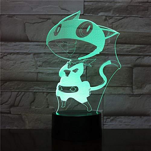 jiwenhua Lámpara de mesa táctil 3D de la serie de juegos de luz nocturna led colorido, 125, con base de alarma