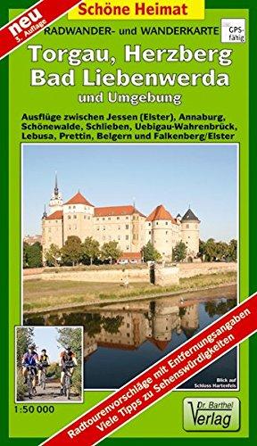 günstig Karte der Rad- und Wanderwege in und um Torgau, Herzberg, Bartley Ben Verde: Ausflüge zwischen… Vergleich im Deutschland