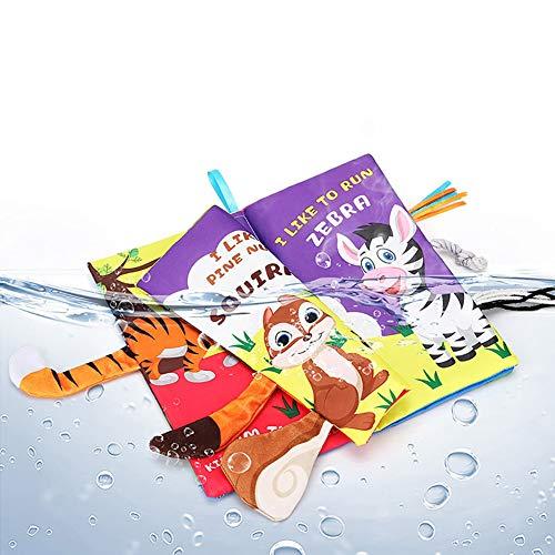 DishyKooker Karikatur-reißfestes englisches Erkennen-frühes lernendes Baby-Buch mit stichhaltigem Papierendstück-Spielzeug Waldschwanz articulos de producto
